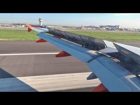 EasyJet Airbus A319 landing at London Gatwick Airport [FCO-LGW]