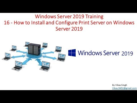 Windows Server 2019 Training 16 - How to Install and