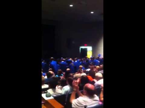 Buena Regional High School cheer at 2013 graduation