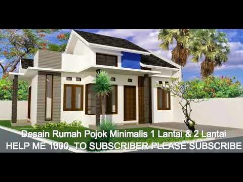 Desain Rumah Pojok Minimalis 1 Lantai & 2 Lantai