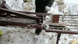 Редукторный дровокол с лифан