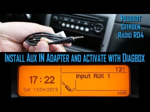 Install Audio AUX Cable And Activate With Diagbox (PP2000 Or Lexia) On Peugeot Citroen RD4 Radio