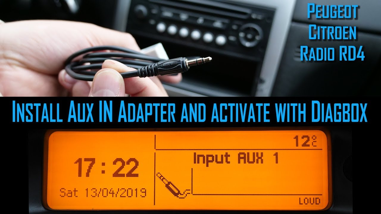 Para peugeot citroen radio adaptador Bluetooth aux cable amplificador filtro rd4 rt3
