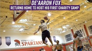 De'Aaron Fox dunks on campers & gives life advice in his first charity basketball camp