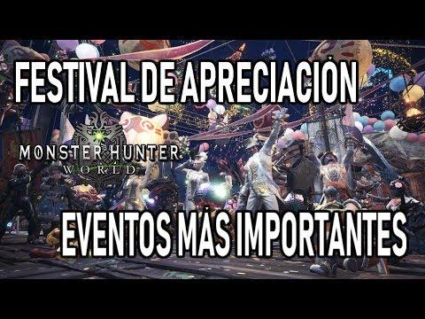 FESTIVAL DE APRECIACIÓN: EVENTOS MÁS IMPORTANTES - Monster Hunter World (Gameplay Español) thumbnail