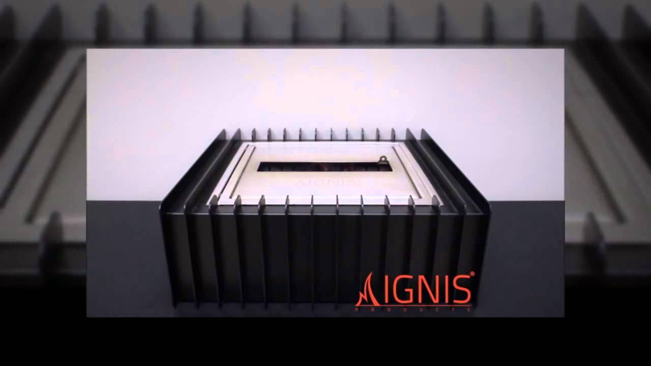 ebg1212 bio ethanol fireplace insert burner grate by ignis youtube
