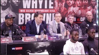 DILLIAN WHYTE v LUCAS BROWNE - (FULL & COMPLETE) PRESS CONFERENCE W/ EDDIE HEARN & FULL UNDERCARD