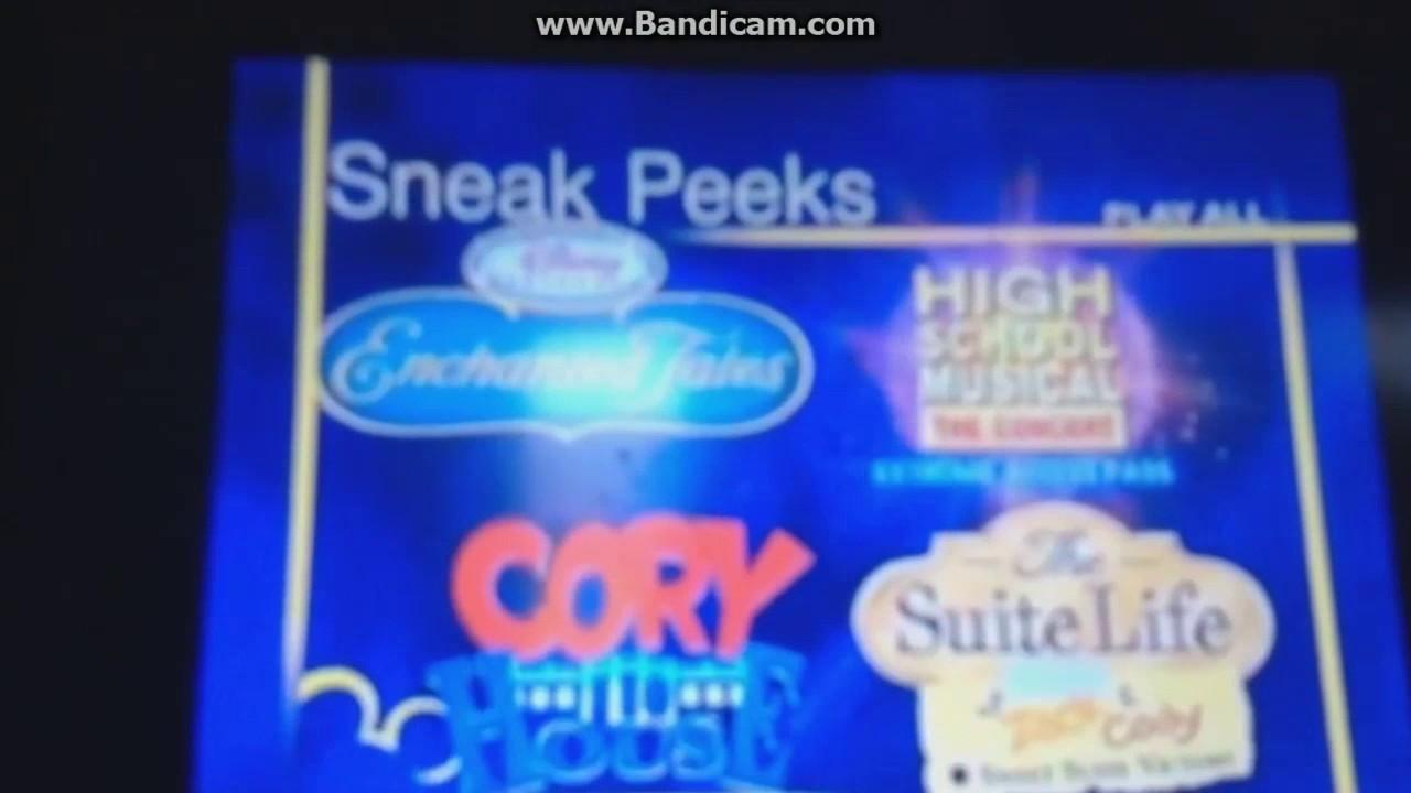 sneak peeks menu for return to halloweentown dvd 2007