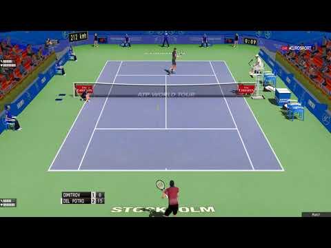 Tennis Elbow 2013 Gameplay - Dimitrov vs Del Potro - Stockholm 2017 FINAL