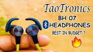 TaoTronics BH07 Bluetooth Earphones Unboxing & Full Review - [हिंदी/Urdu ]