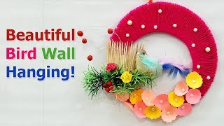 Best out of Waste DIY Wall Hanging from Wool |  Resusing Old for DIY Wall Hanging
