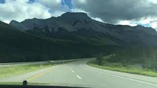 Road to Banff, AB, Canada - Timelapse