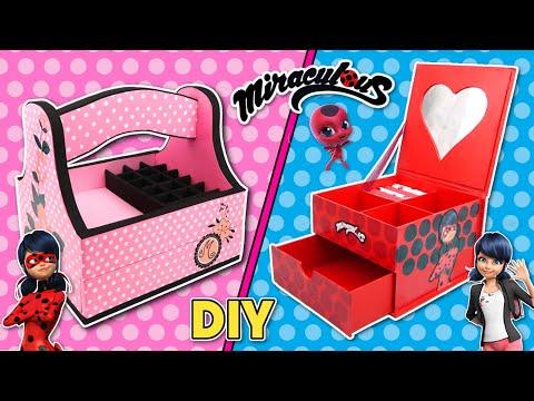 miraculous-ladybug-crafts:-marinette-organizer-diy-and-ladybug-organizer-diy