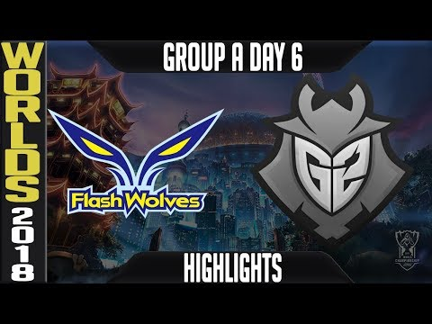 FW Vs G2 Highlights | Worlds 2018 Group A Day 6 | Flash Wolves(LMS) Vs G2 Esports(LMS)