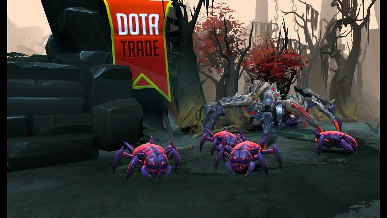 Thistle Crawler Broodmother broodling preview Dota 2 - YouTube