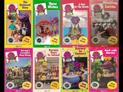 Barney & The Backyard Gang and Barney & Friends 1992 VHS ...