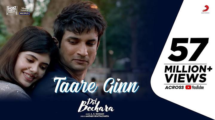 Dil Bechara- Taare Ginn |Official Video|Sushant, Sanjana|A.R.Rahman|Mohit, Shreya|Mukesh C|Amitabh B