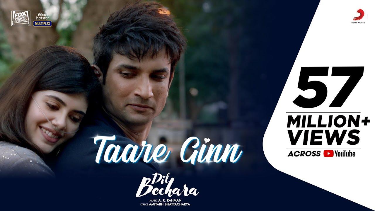 Dil Bechara - Taare Ginn | Official Video | Sushant Singh Rajput | A.R. Rahman | Mohit & Shreya