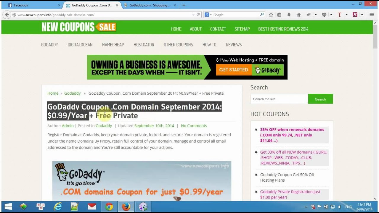How To Use Godaddy Coupon Promo Codes Updated 2018 Youtube