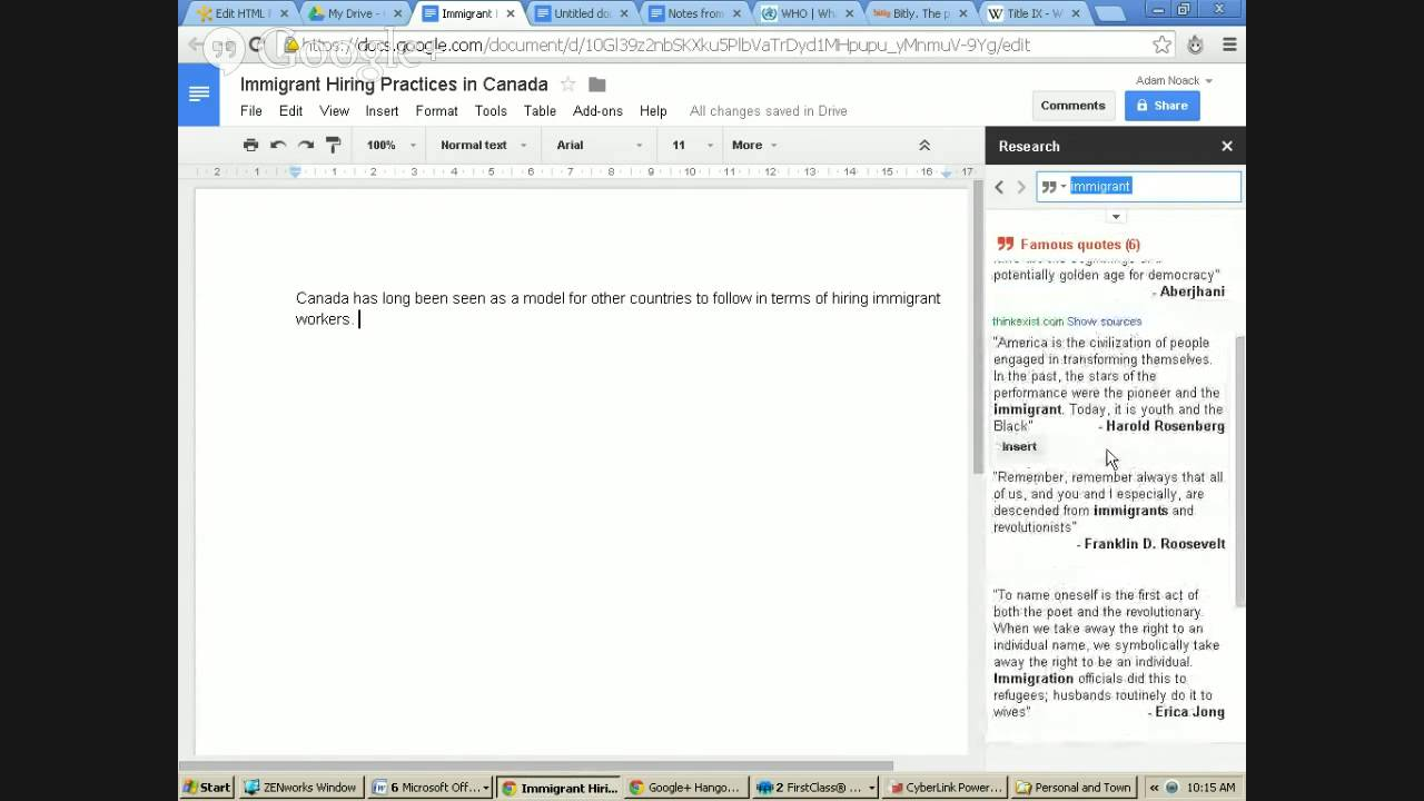 Word Processing in Google Drive - YouTube