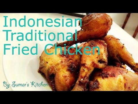 Indonesian Traditional Fried Chicken (Ayam Goreng Ungkep)