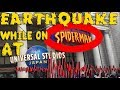 EARTHQUAKE while at Universal Studios Japan one piece opening weekend!