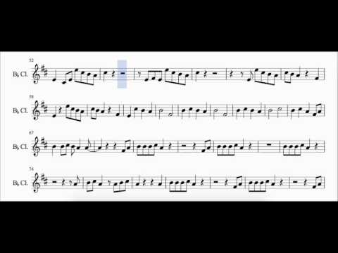 Shake it off - Taylor Swift - Sheet Music Cover [Clarinet]
