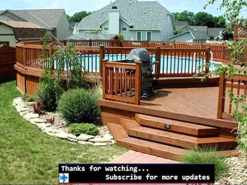 pool fence ideas for above ground fences ideas for swimpool - Above Ground Pool Deck Off House
