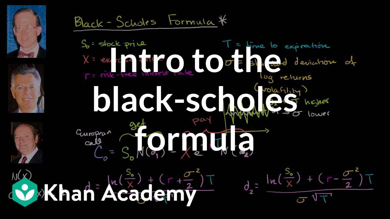 Introduction to the Black-Scholes formula (video) | Khan Academy