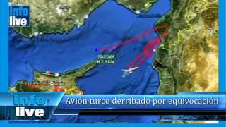 Avión turco derribado por equivocación