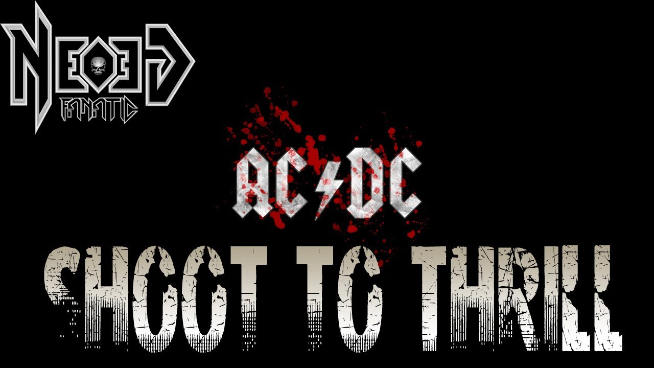 ac dc shoot to thrill guitar cover neogeofanatic youtube. Black Bedroom Furniture Sets. Home Design Ideas