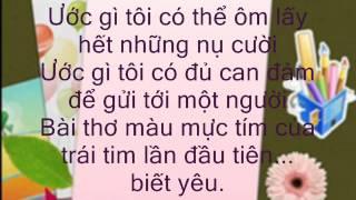 Bài thơ màu mực tím - Miu Lê