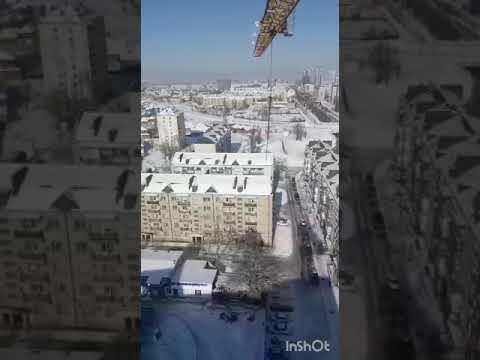 Грозный со строительного крана около ЖК Минутка   февраль 2020, Чечня