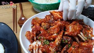 리얼먹방:) 엄마표 양념게장★디저트는 샌드위치ㅣYangnyeom-gejang (Spicy Marinated Crab)ㅣREAL SOUNDㅣASMR MUKBANGㅣ