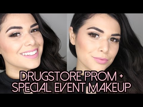 DRUGSTORE PROM MAKEUP |  Budget Friendly Special Event, Wedding, Formal Makeup