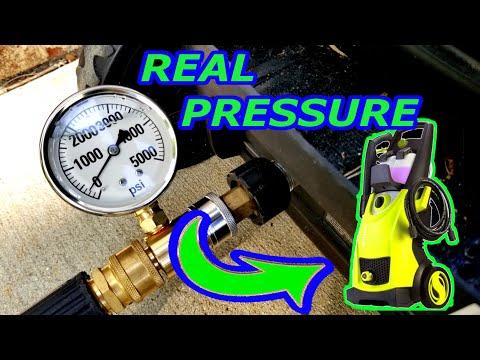 REAL PRESSURE OF SUN JOE SPX3000 PRESSURE WASHER