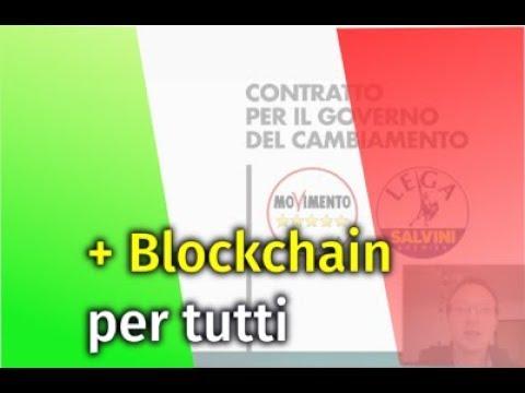🇮🇹 Governo Blockchain M5S Lega, USA vs EU, Blockchainconf