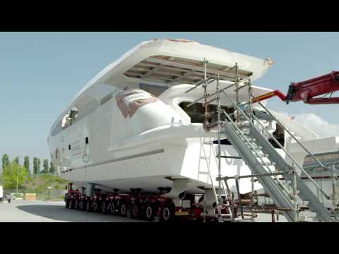 Launch of Amer 100 yacht with Volvo Penta IPS