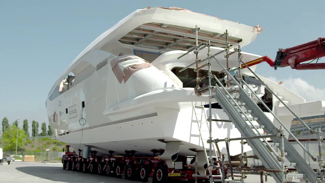 Launch of Amer 100 yacht with Volvo Penta IPS - YouTube