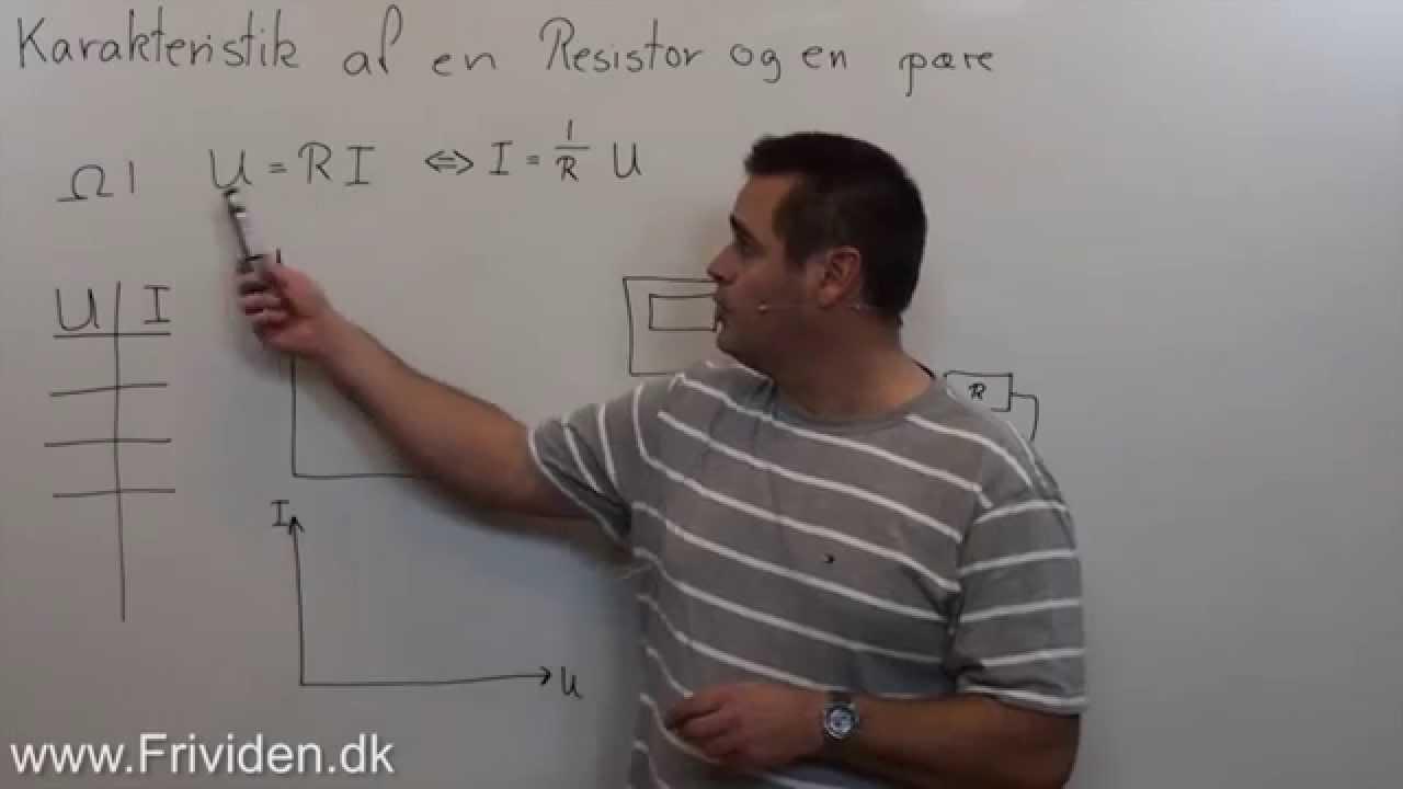 Karakteristik af pære og resistor, Vejledning