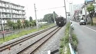 JR青梅線東中神~中神間を疾走するクモハ40型電車(1998年5月4日)