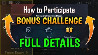 PUBG MOBILE LITE | HOW TO PARTICIPATE BONUS CHALLENGE TOURNAMENT | EXCLUSIVE REWARDS | FREE BC