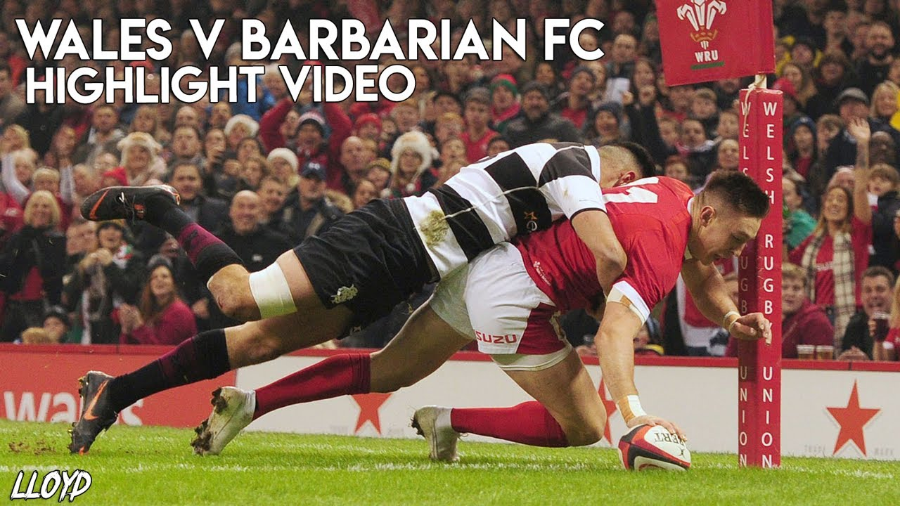 Wales v Barbarian FC Rugby Highlights 30 11 2019