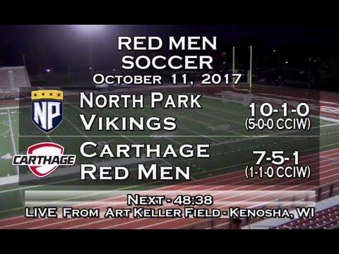 Carthage Men's Soccer vs. North Park 2017_10_11
