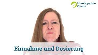 Homöopathie - Einnahme und Dosierung homöopathischer Mittel