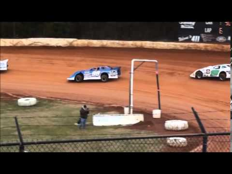 Super Late Model Heat #1 from 411 Motor Speedway 1/1/15.