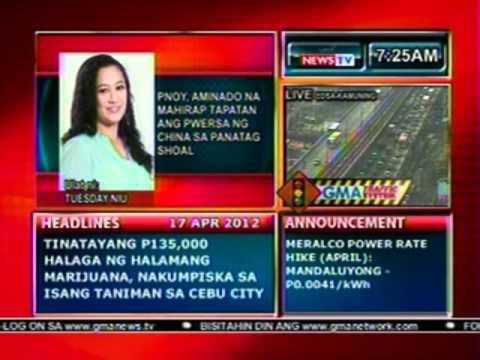 DB: PNoy, aminado na mahirap tapatan ang pwersa ng China sa Panatag Shoal (041712)
