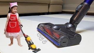엄마 이제 청소 안할래!! 서은이의 청소 장난감 역할놀이 소꿉놀이 무지개 Pretend Play Cleaner for Kids
