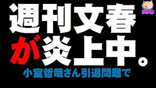 週刊文春が炎上 - 小室哲哉さん引退問題で - 2018.01.21 http://blog.goo.ne.jp/sithux7/e/9bcbd3c4d00ce03df6a736406141ec00 文春のツイッターに2000件超える ...