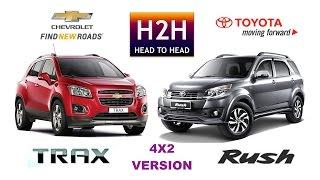 H2H #77 Chevrolet TRAX vs Toyota RUSH